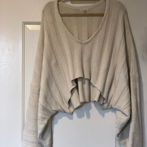 Urban Outfitters Cropped Cable Knit Sweater